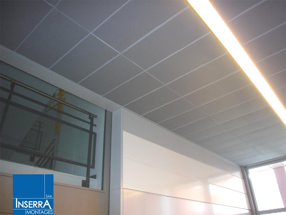 Plafonds suspendus for Faux plafond demontable